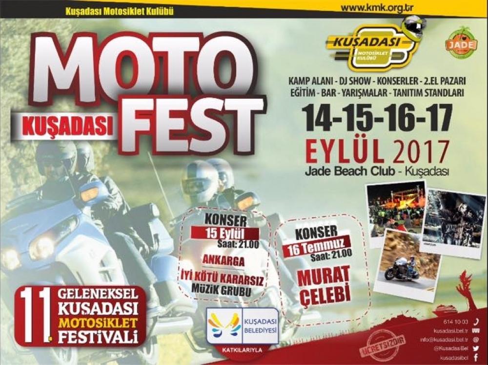 11. Geleneksel Kuşadası Motosiklet Festivali 14-17/09/2017