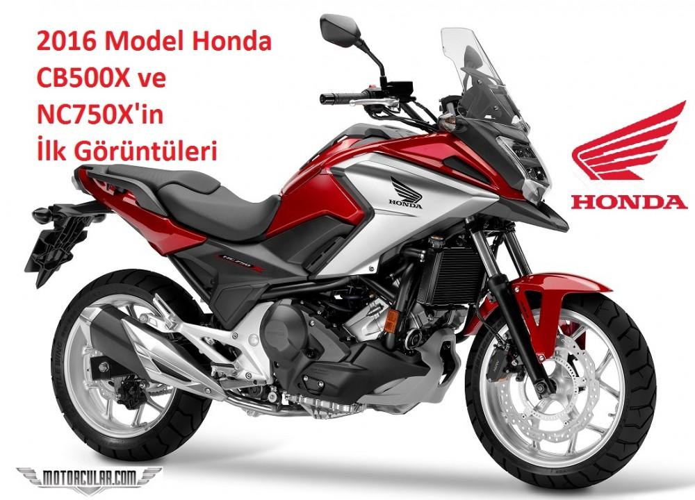 Honda 2016 model CB500X ve NC750X'in İlk Görüntülerini Yayınladı