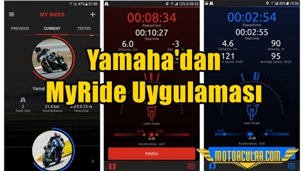 Yamaha'dan MyRide Uygulaması