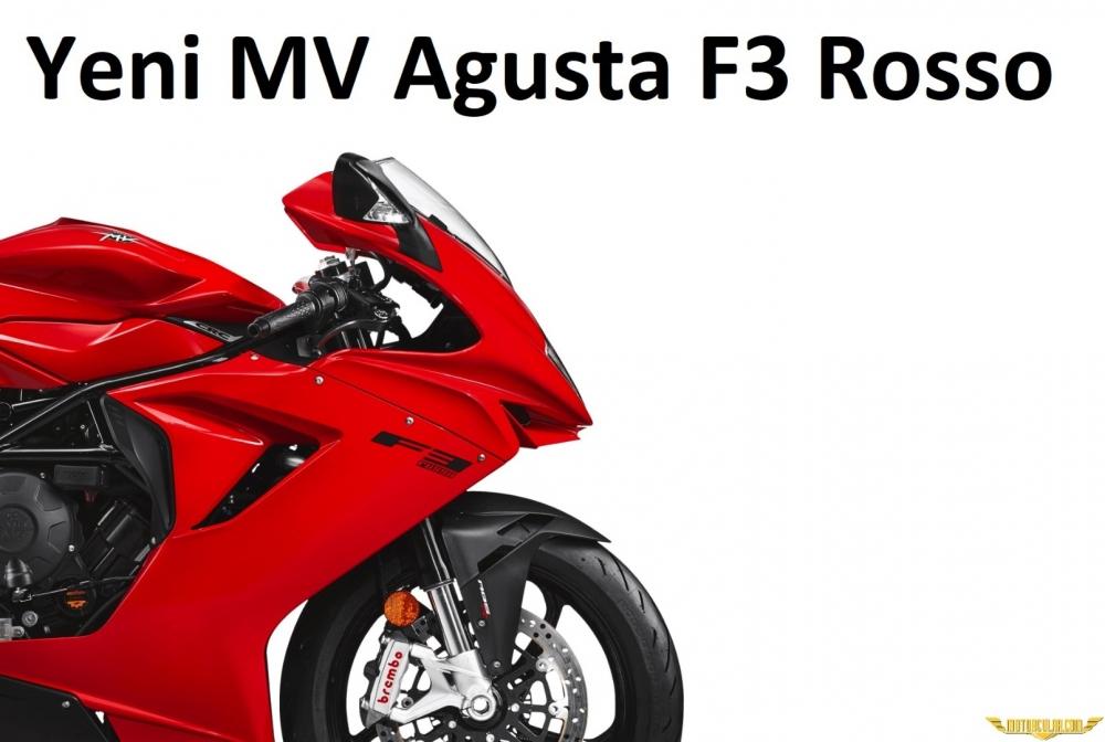 2021 MV Agusta F3 Rosso Sunuldu