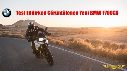 Test Edilirken Görüntülenen Yeni BMW F700GS