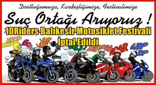 10Riders Balıkesir Motofest İptal Edildi
