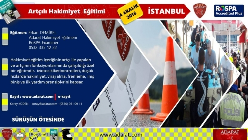 Adarat-Rospa Akredite Egitim Akademisi Artçılı Hakimiyet Eğitimi, İSTANBUL 04 Aralık 2016