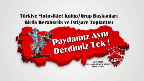Türkiye Motosiklet Kulüp/Grup Başkanları Birlik Beraberlik ve İstişare Toplantısı 03-04 Aralık 2016