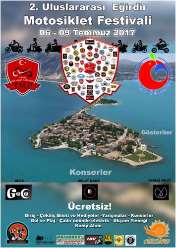 TMP Türkiye Motosiklet Platformu  2. Uluslararası Eğirdir Motosiklet Festivali, Isparta 06-09 Temmuz 2017