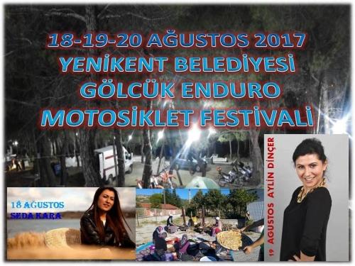 2. Yenikent Beldesi Gölcük Enduro Festivali, Gediz Kütahya 18-20 Ağustos 2017