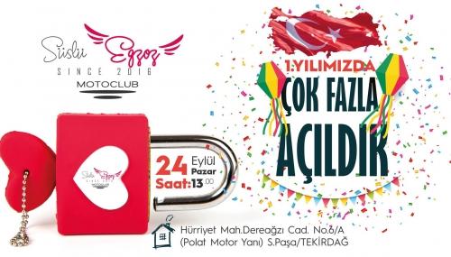 Süslü Egzoz Kulüp Evi Açılıyor 24 Eylül 2017 Pazar