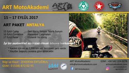 ART MotoAkademi Paket Eğitimi Antalya
