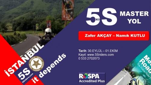 5Sriders Master Yol İstanbul 30 Eylül - 1 Ekim 2017
