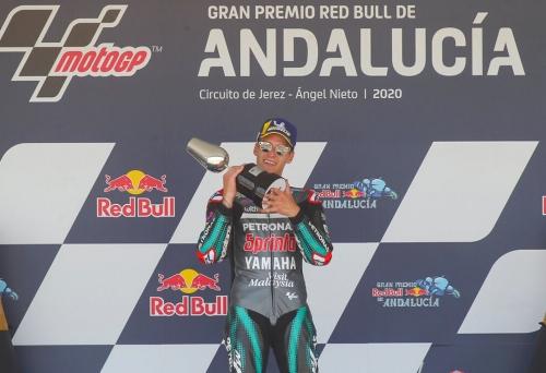 Endülüs MotoGP: Quartararo rahat şekilde kazandı, Rossi podyumda!