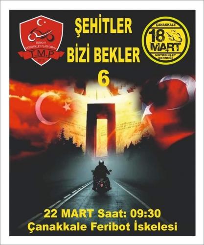 Şehitler Bizi Bekler Sürüşü 6, 21-22 Mart Gelibolu - Çanakkale