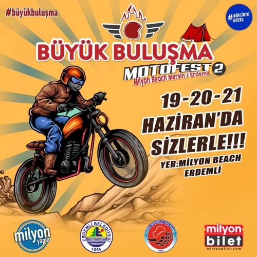 Büyük Buluşma Motofest 2 19-21 Haziran 2020 Milyon Beach, Erdemli - Mersin