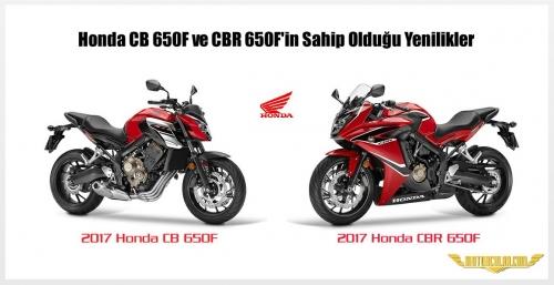 Honda CB 650F ve CBR 650F'in Sahip Olduğu Yenilikler
