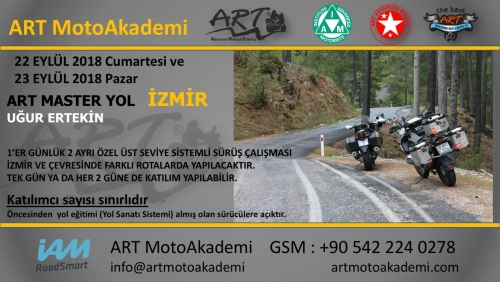 ART Master Yol İzmir 22-23 Eylül 2018