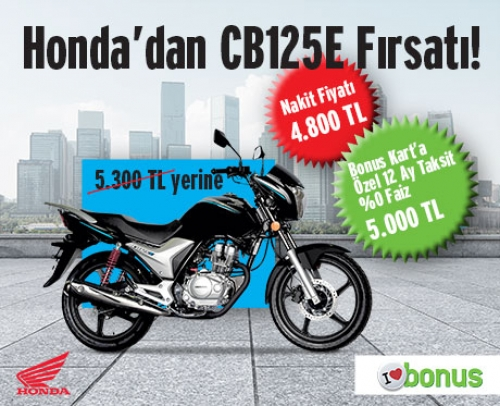 Honda'dan CB125E Fırsatı!