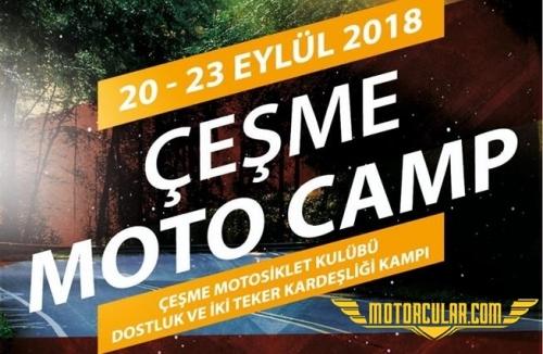 Çeşme Motosiklet Kulübü Dostluk ve Kardeşlik Kampı Başlıyor