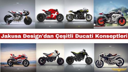 Jakusa Design'dan Çeşitli Ducati Konseptleri