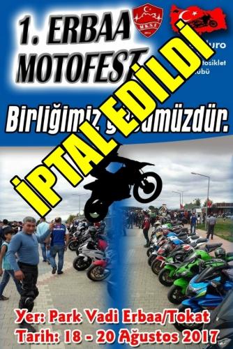 1.MyEnduro Erbaa Motosiklet Festivali Erbaa, Tokat 18-20 Ağustos 2017