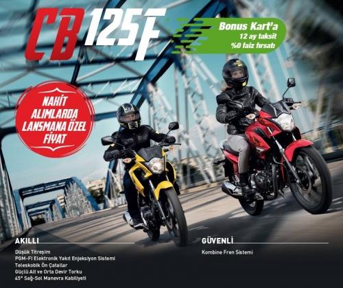 Honda CB125F Bonus Kampanyası