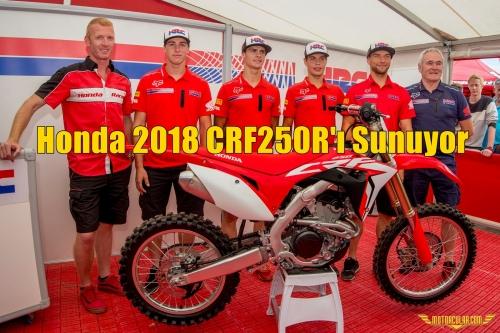Honda 2018 CRF250R'ı Sunuyor