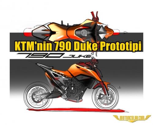 KTM'nin 790 Duke Prototipi