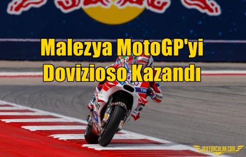 Malezya MotoGP'yi Dovizioso Kazandı