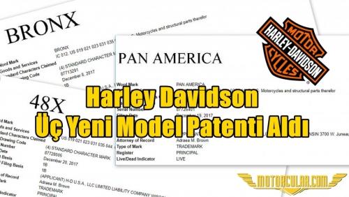 Harley Davidson Üç Yeni Model Patenti Aldı