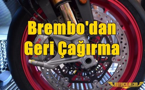 Brembo'dan Geri Çağırma