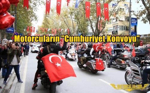 Motorcuların ''Cumhuriyet Konvoyu''
