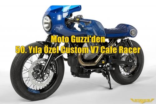 Moto Guzzi'den 50. Yıla Özel Custom V7 Cafe Racer
