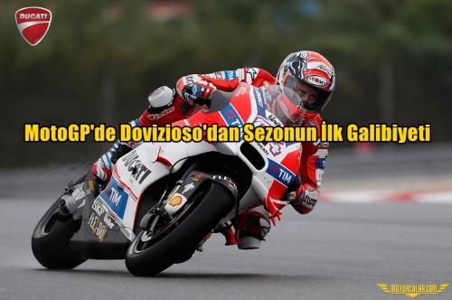 MotoGP'de Dovizioso'dan Sezonun İlk Galibiyeti