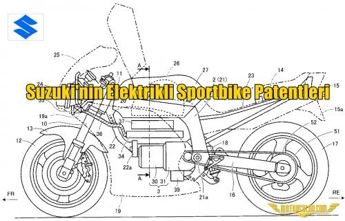 Suzuki'nin Elektrikli Sportbike Patentleri