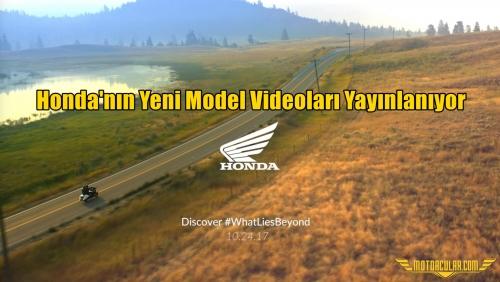 Honda'nın Yeni Model Videoları Yayınlanıyor