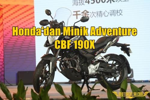 Honda'dan Minik Adventure Modeli: CBF190X