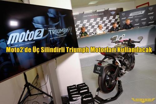 Moto2'de Üç Silindirli Triumph Motorları Kullanılacak