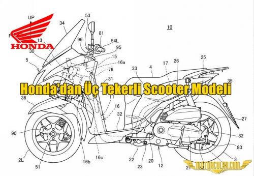 Honda'dan Üç Tekerli Scooter Modeli