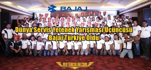 Bajaj Dünya Servis Yetenek Yarışması Üçüncüsü Türkiye Oldu