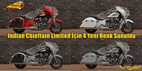 Indian Chieftain Limited İçin 4 Yeni Renk Sunuldu
