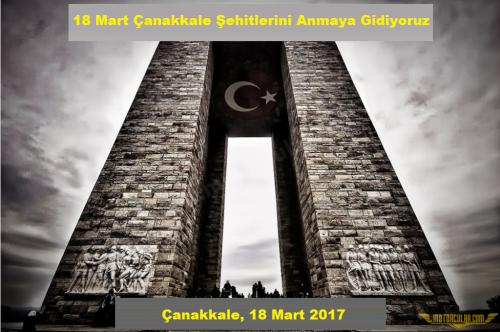 18 Mart Çanakkale Şehitlerini Anmaya Gidiyoruz, 18 Mart 2017