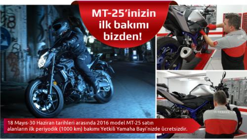 MT-25'inizin İlk Bakımı Yamaha'dan!