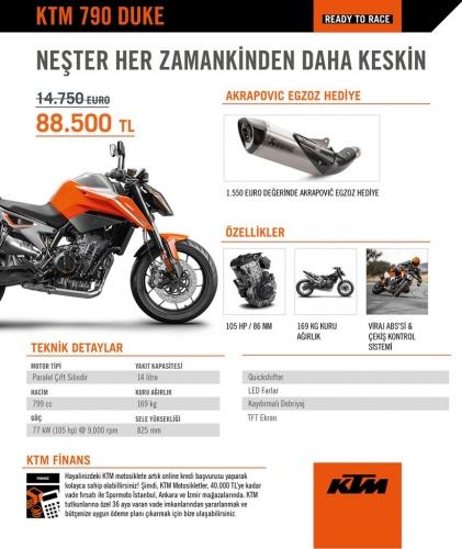 KTM 790 Duke Kampanyası