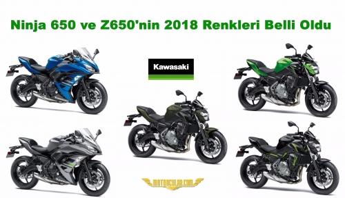 Ninja 650 ve Z650'nin 2018 Renkleri Belli Oldu