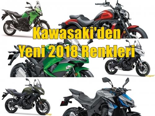 Kawasaki'den Yeni 2018 Renkleri