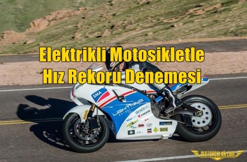 Elektrikli Motosikletle Hız Rekoru Denemesi