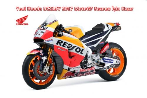 Yeni Honda RC213V 2017 MotoGP Sezonu İçin Hazır