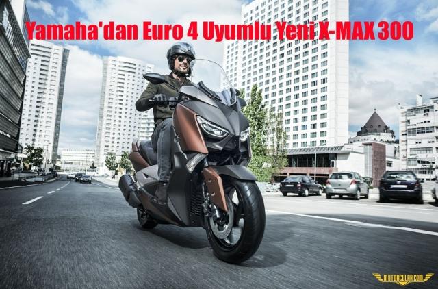 Yamaha'dan Euro 4 Uyumlu Yeni X-MAX 300