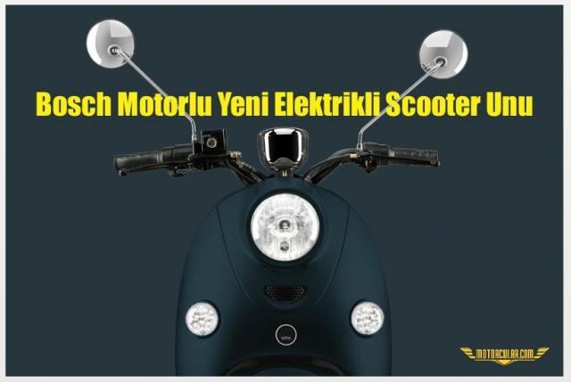 Bosch Motorlu Yeni Elektrikli Scooter Unu