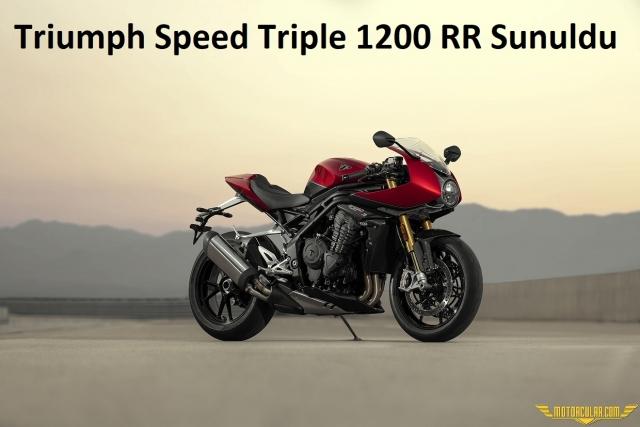 Triumph Speed Triple 1200 RR Sunuldu