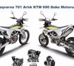2017 Husqvarna 701 Artık KTM 690 Duke Motoruna Sahip