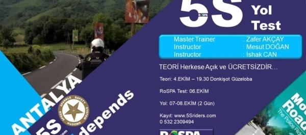 5Sriders RoSPA Test Antalya 6 Ekim 2017